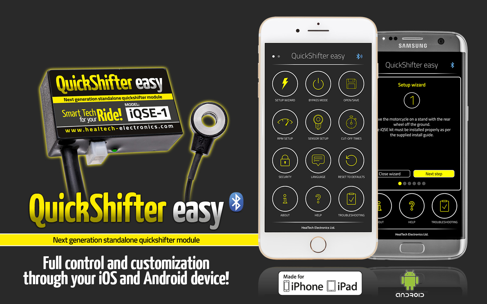 Quick Shifter easy (iQSE) - HealTech Electronics Ltd